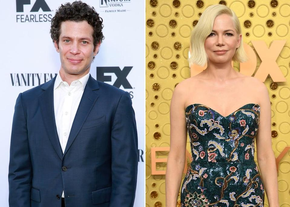 "<p>In December 2019, <strong>Us Weekly</strong> revealed that <a href=""http://www.usmagazine.com/celebrity-news/news/michelle-williams-pregnant-engaged-to-thomas-kail/"" class=""link rapid-noclick-resp"" rel=""nofollow noopener"" target=""_blank"" data-ylk=""slk:the actress is engaged and expecting a child"">the actress is engaged and expecting a child</a> with <strong>Hamilton</strong> director Thomas Kail. The two previously worked together on FX's <strong>Fosse/Verdon</strong>, which Thomas produced and directed. The engagement comes less than a year after Michelle split from husband Phil Elverum in April 2019. Michelle is also a mom to 14-year-old daughter Matilda, whom she shared with the late <a class=""link rapid-noclick-resp"" href=""https://www.popsugar.com/Heath-Ledger"" rel=""nofollow noopener"" target=""_blank"" data-ylk=""slk:Heath Ledger"">Heath Ledger</a>.</p>"