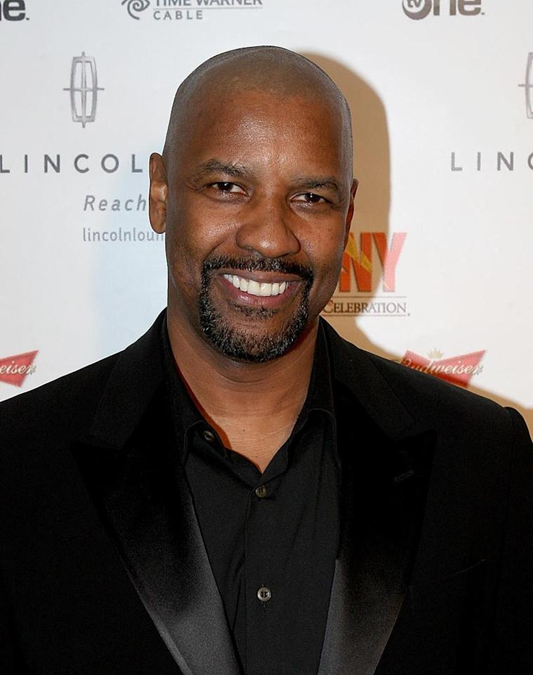 "Denzel Washingon proves that a bald head can make an already distinguished man look even more handsome. Arnold Turner/<a href=""http://www.wireimage.com"" target=""new"">WireImage.com</a> - February 21, 2008"