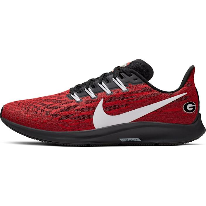 Men's Nike Red/White Georgia Bulldogs Air Zoom Pegasus 36 Sneakers