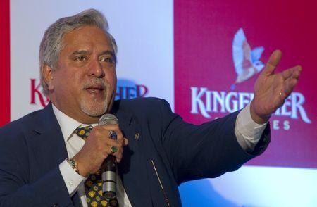 FILE PHOTO: Kingfisher Airlines Chairman Vijay Mallya speaks to the media during a news conference in Mumbai November 15, 2011. REUTERS/Vivek Prakash/File photo