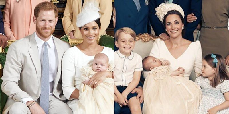 What Baby Archie's Christening Photos Look Like Compared To