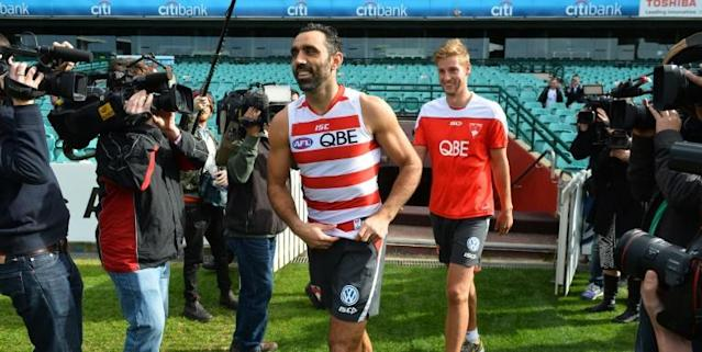 The AFL apologised for not doing more to protect Goodes (AFP Photo/PETER PARKS)