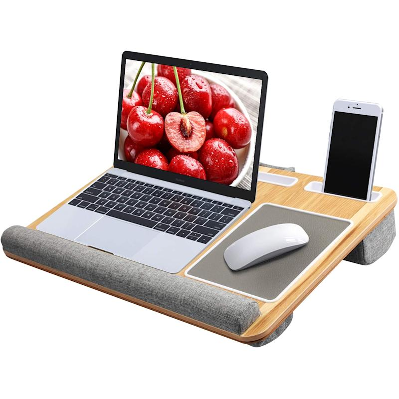 This lap desk is built for multitasking. (Photo: Amazon)