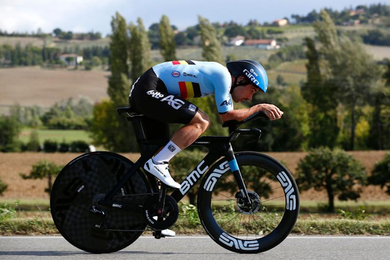 IMOLA ITALY SEPTEMBER 25 Victor Campenaerts of Belgium during the 93rd UCI Road World Championships 2020 Men Elite Individual Time Trial a 317km race from Imola to Imola Autodromo Enzo e Dino Ferrari ITT ImolaEr2020 Imola2020 on September 25 2020 in Imola Italy Photo by Bas CzerwinskiGetty Images