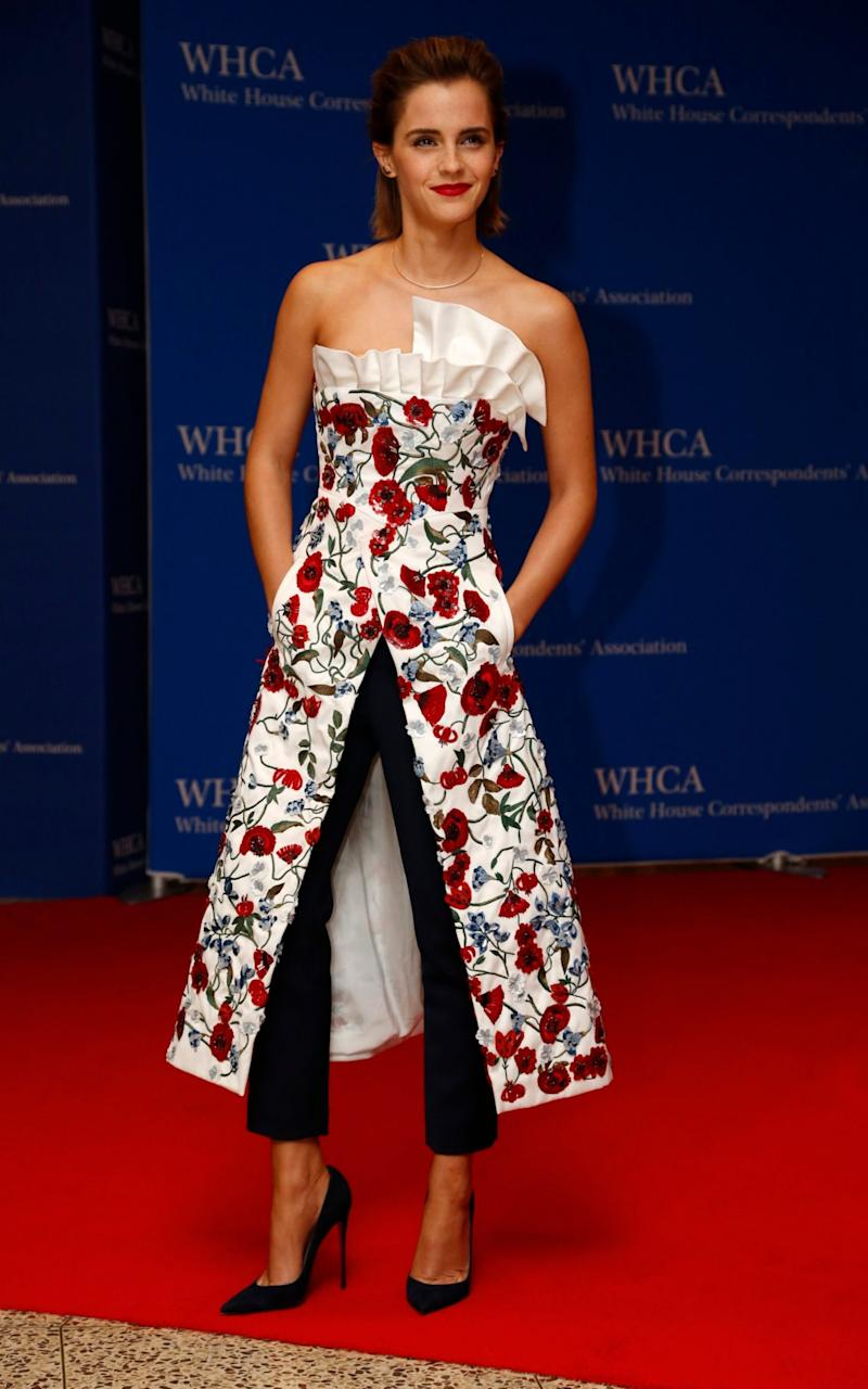 Actress Emma Watson arrives on the red carpet for the annual White House Correspondents Association Dinner in Washington, U.S., April 30, 2016 - Credit: Reuters