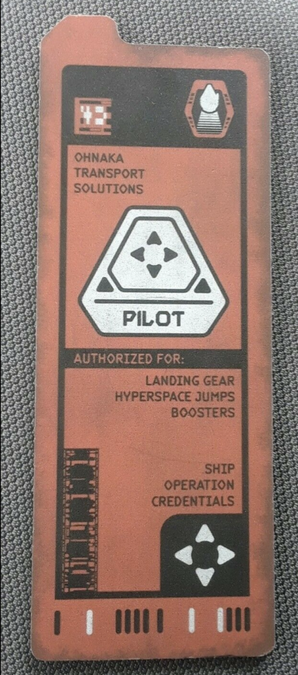 Pilot assignment card from Galaxy's Edge (Credit: eBay)