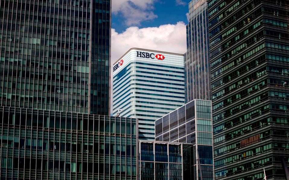 HSBC offices in Canary Wharf, London - AFP