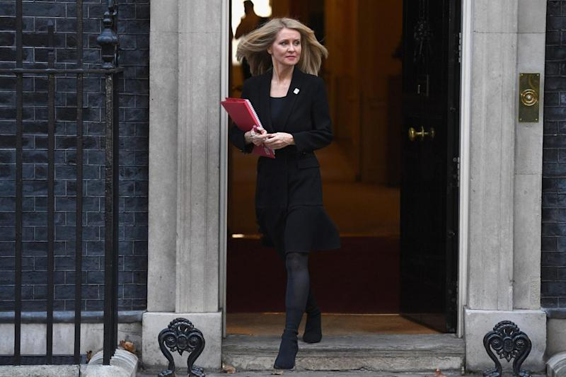 Esther McVey is reported to have asked for a show of hands in support of the deal at the Cabinet meeting (Getty Images)