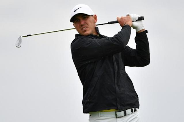 US golfer Brooks Koepka, seen here at the British Open in July, had a rollercoaster round at the CJ Cup on Thursday as he works to defend his title (AFP Photo/Paul ELLIS)
