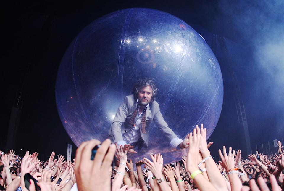 The Flaming Lips Wayne Coyne in a bubble