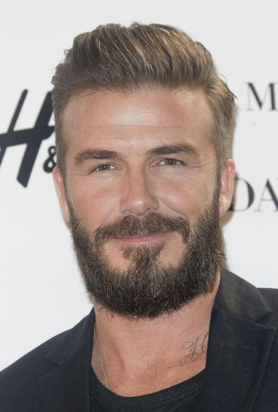 <p>From a full beard to perfectly groomed goatees, Beckham likes to mix up his facial hair on the regular.</p>