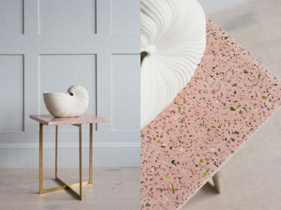 Revamp your tabletops with this gold-legged piece (Rose & Grey)