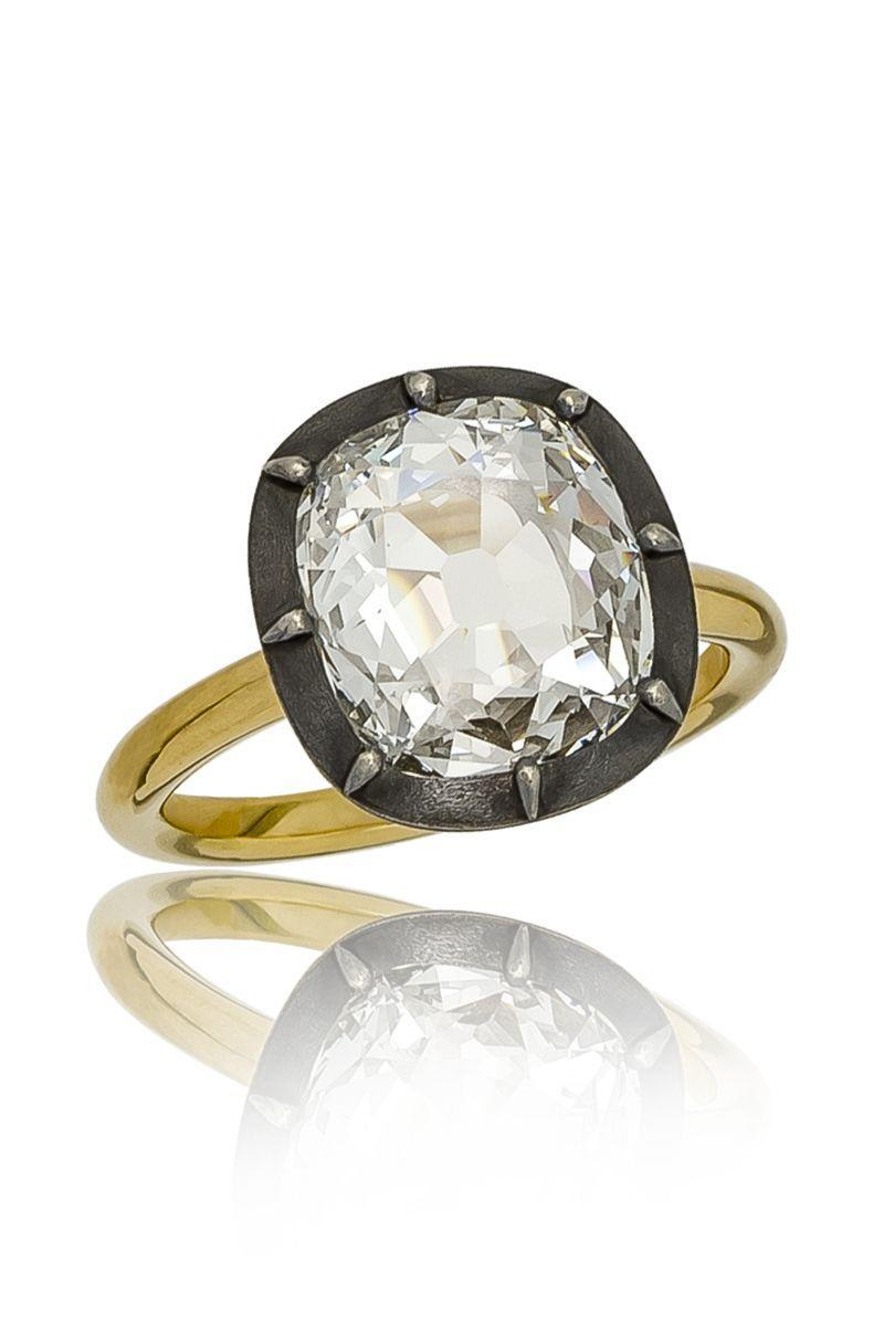 "<p><em><strong>Stephen Russell</strong> Platinum & Diamond Ring with Old Mine Cushion Cut Diamond, French, Ca1915, price upon request, </em><em><a href=""http://stephenrussell.com/"" rel=""nofollow noopener"" target=""_blank"" data-ylk=""slk:stephenrussell.com"" class=""link rapid-noclick-resp"">stephenrussell.com</a>.</em></p><p><strong><a class=""link rapid-noclick-resp"" href=""http://stephenrussell.com/"" rel=""nofollow noopener"" target=""_blank"" data-ylk=""slk:SHOP"">SHOP</a><br></strong></p>"