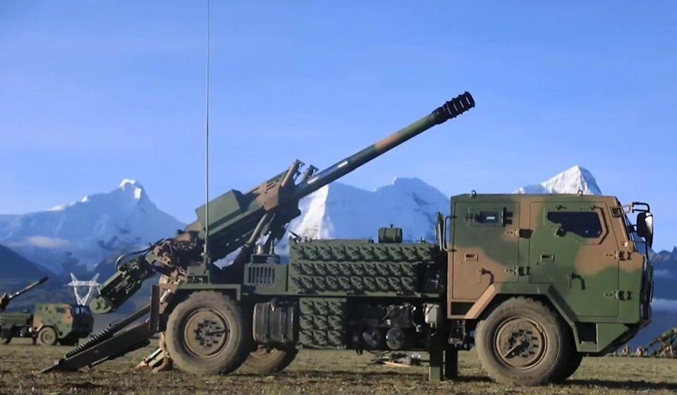 China PLC-161 howitzer has been fitted to a general utility truck. Photo: Handout