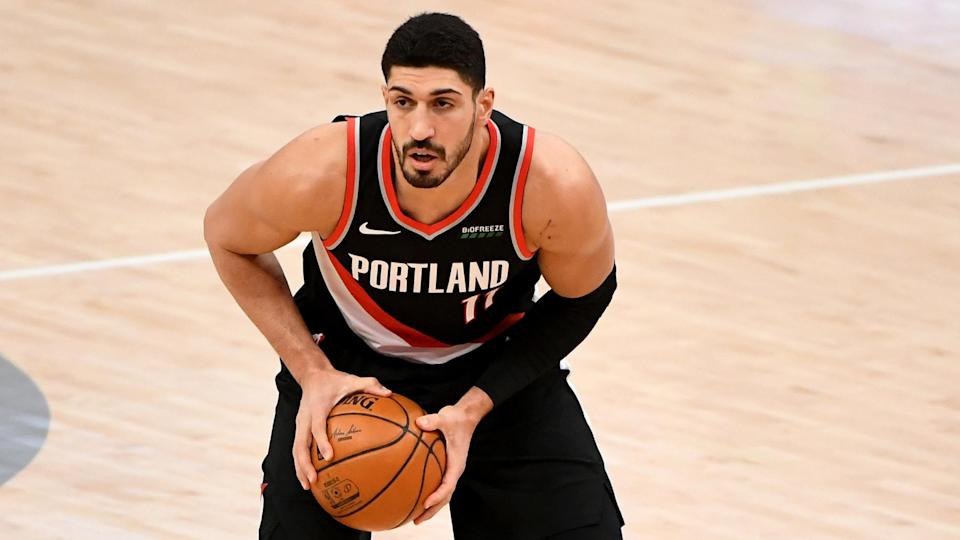 """""""If a guy's not getting vaccinated because of his religion, I feel like we are in a time where the religion and science has to go to together,"""" says Enes Kanter, currently of the Boston Celtics. - Credit: Will Newton/Getty Images"""