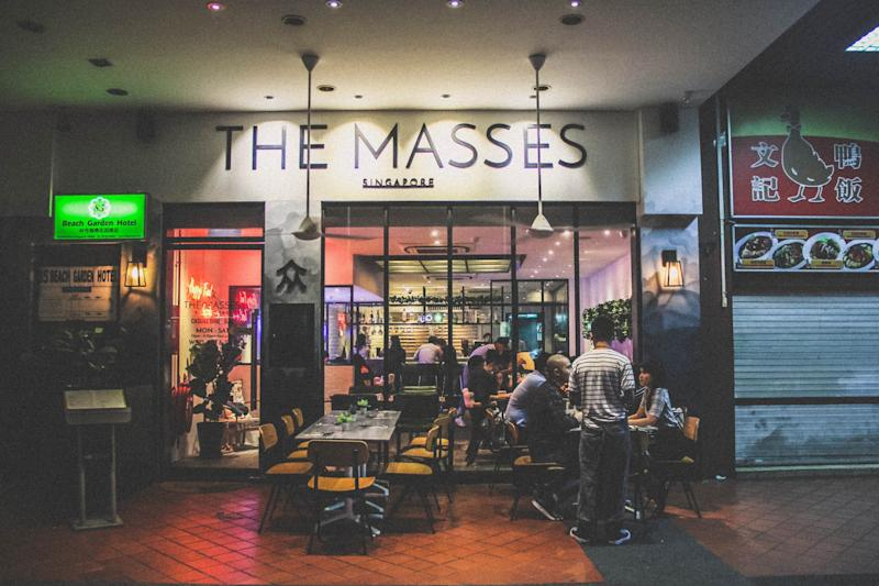 An exterior shot of The Masses, Singapore. Chef Dylan now mans the 40-seater The Masses restaurant. (PHOTO: Dylan Ong)