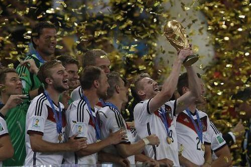 German soccer players celebrating