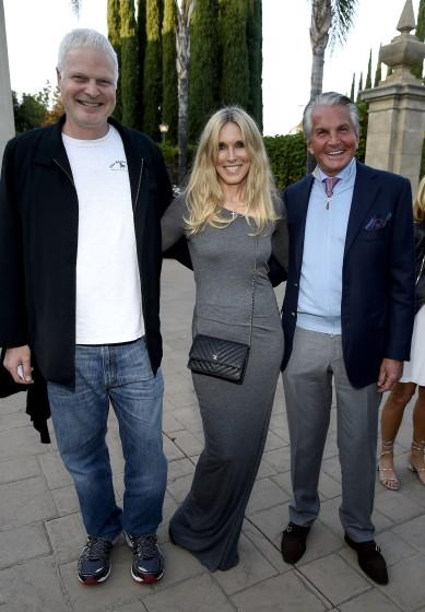 Steve Bing with actors Alana Stewart and George Hamilton in 2016