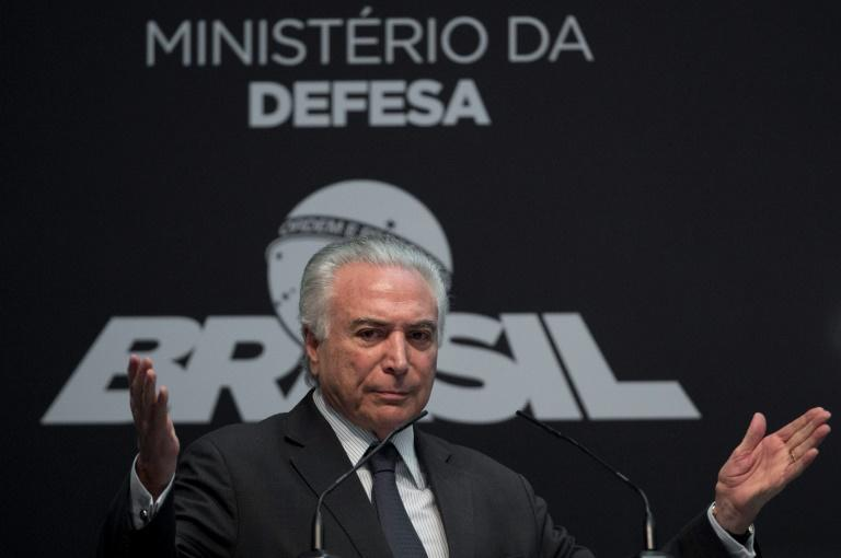 With less than eight months before the October election, Brazilian President Michel Temer had long been counted out of the running -- but after a torrid time in office, a few elements are finally going the 77-year-old's way