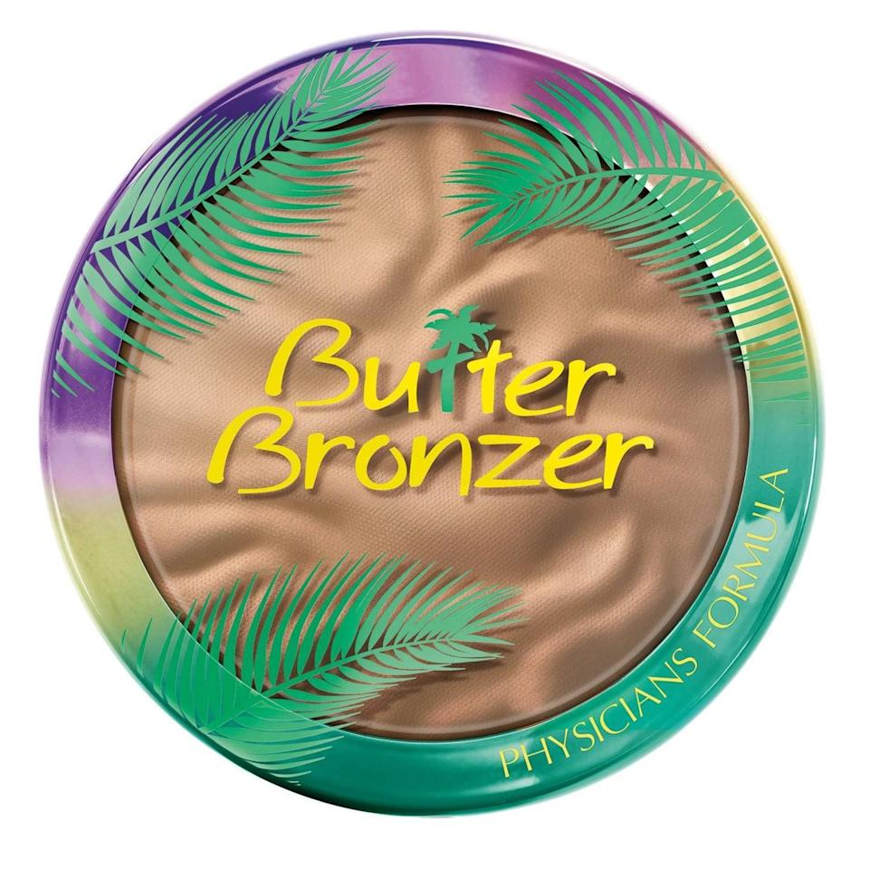 "<p>""Anyone who's obsessed with beauty knows about the <a href=""https://www.popsugar.com/buy/Physicians-Formula-Butter-Bronzer-587538?p_name=Physicians%20Formula%20Butter%20Bronzer&retailer=target.com&pid=587538&price=13&evar1=bella%3Auk&evar9=40920323&evar98=https%3A%2F%2Fwww.popsugar.com%2Fbeauty%2Fphoto-gallery%2F40920323%2Fimage%2F47601974%2FPhysicians-Formula-Butter-Bronzer&list1=makeup%2Cbeauty%20products%2Ceditors%20pick%2Cbeauty%20shopping%2Cbeauty%20news%2Cdrugstore%20beauty%2Cskin%20care&prop13=api&pdata=1"" class=""link rapid-noclick-resp"" rel=""nofollow noopener"" target=""_blank"" data-ylk=""slk:Physicians Formula Butter Bronzer"">Physicians Formula Butter Bronzer</a> ($13). It gives you a sun-kissed glow that rivals the look of countless pricer options. The creamy powder formula goes on satin-smooth and blends seamless for a natural-looking. Oh, and I can't forget to mention the amazing tropical scent it has."" - JH</p>"