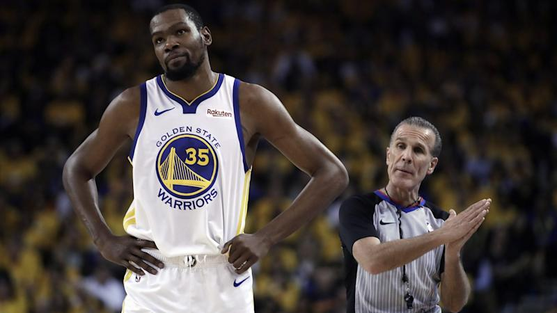 cee97523c0dd Report  Kevin Durant out rest of Warriors-Trail Blazers