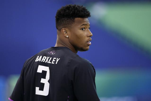 Saquon Barkley has done all he can do to prove his value to NFL evaluators. (Getty)