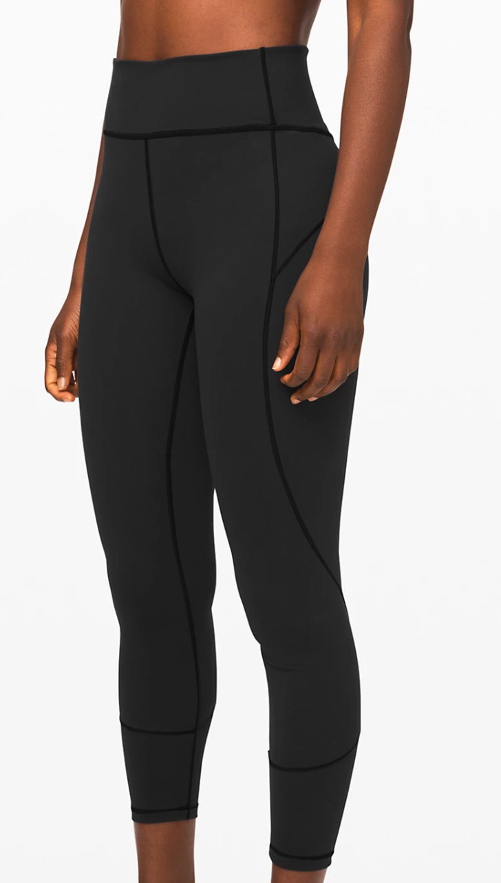 """Lululemon Everlux In Movement Tight 25"""" in Black"""