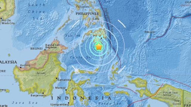 Philippines Tsunami warning