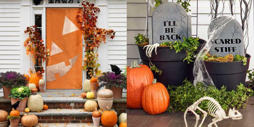 "<p>It's all about the stoop on Halloween. But if you want to go beyond the expected jack-'o-lantern, make or buy these <a rel=""nofollow"" href=""https://www.womansday.com/home/crafts-projects/how-to/g309/9-devilishly-fun-decorating-projects-110896/"">scary outdoor decorations</a> to get your porch into top-notch shape for trick-or-treaters. And if you don't feel like carving, try these <a rel=""nofollow"" href=""https://www.womansday.com/home/decorating/g1902/painted-pumpkins-ideas/"">painted pumpkin ideas</a>.</p>"