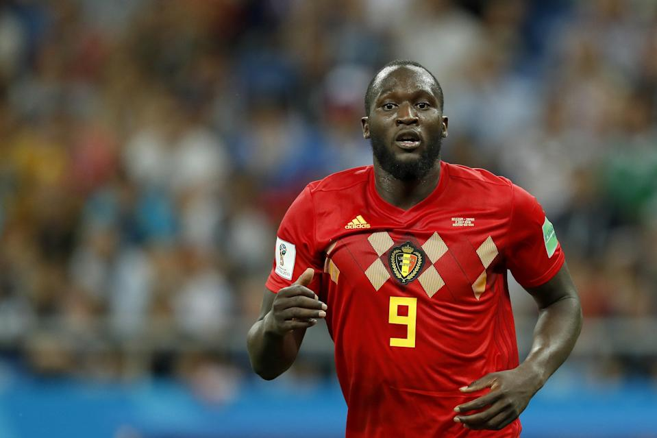 Romelu Lukaku of Belgium during the 2018 FIFA World Cup Russia round of 16 match between Belgium and Japan at the Rostov Arena on July 02, 2018 in Rostov-On-Don, Russia. (Getty Images)