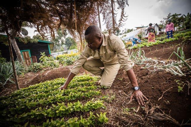 John Kahekwa, founder of the Pole Pole Foundation which runs farming projects that grow low-cost, nutritious foods