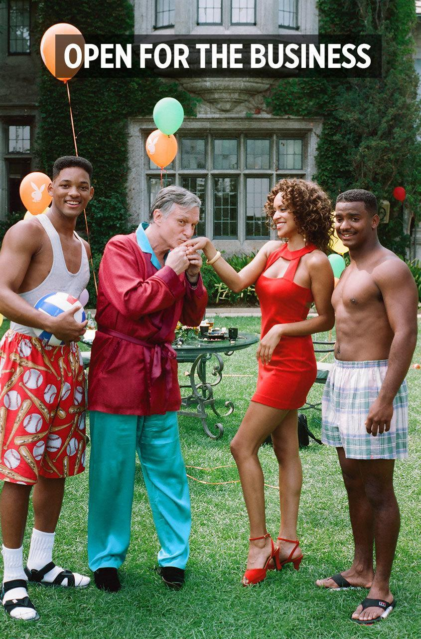"""<p>Hollywood and the Mansion have shared a symbiotic relationship since the 70s, when Hef's lavish parties hosted the biggest stars on the planet on the reg. Over the years, Hollywood has returned the favor, as shows like <i>Entourage, Curb Your Enthusiasm, The Fresh Prince of Bel-Air, </i>and <i><a href=""""https://www.youtube.com/watch?v=fvKDbkYEPQY"""" rel=""""nofollow noopener"""" target=""""_blank"""" data-ylk=""""slk:Sex and The City"""" class=""""link rapid-noclick-resp"""">Sex and The City</a></i> helped immortalize the grounds by featuring the mansion in crucial scenes and episodes. And never forget the beloved reality show that gave the world """"unfiltered"""" access to Hef's polyamorous relationship, <i>The Girls Next Door. Photo: Getty Images</i><br></p>"""