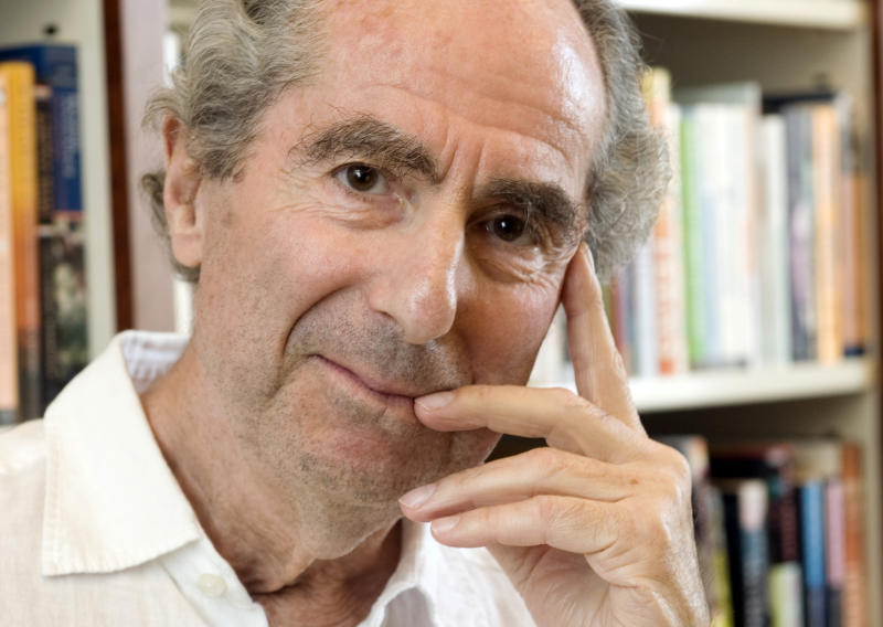 FILE - In this Sept. 8, 2008 file photo, author Philip Roth poses for a photo in the offices of his publisher Houghton Mifflin, in New York.  Roth turned 80 on Tuesday, March 19, 2013 and he's in his hometown Newark, N.J., for the occasion, where several events are planned in his honor.  (AP Photo/Richard Drew, file)