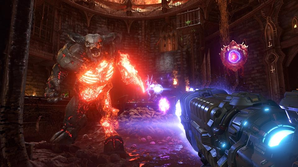 'Doom Eternal' is the follow-up to 2016's 'Doom' and features more over the top than demon crushing awesomeness than you can handle. (Image: Bethesda)
