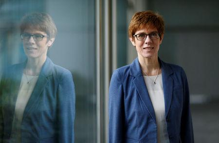 Annegret Kramp-Karrenbauer, State Prime Minister of Saarland and top candidate of the Christian Democratic Union Party (CDU) for the upcoming state elections in the Saarland poses after a Reuters interview in Saarbruecken, Germany March 13, 2017. REUTERS/Ralph Orlowski