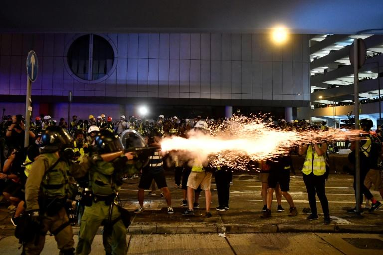 Hong Kong has been plunged into its worst crisis in recent history (AFP Photo/Anthony WALLACE)