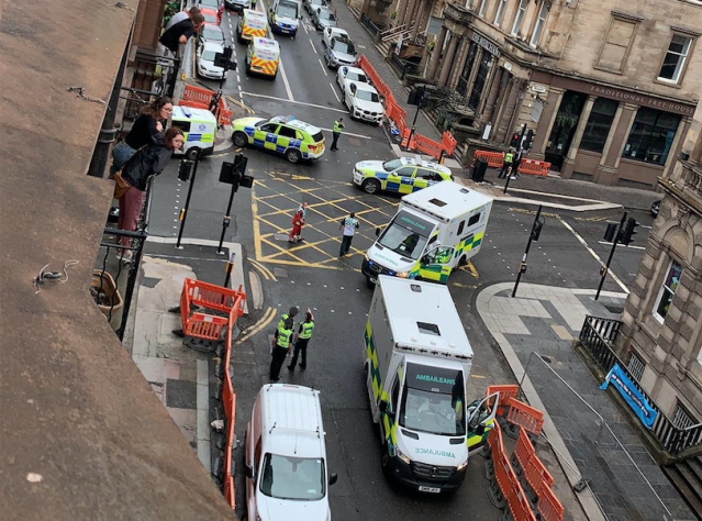 Roads were closed in Glasgow city centre due to a 'serious police incident'. (PA)
