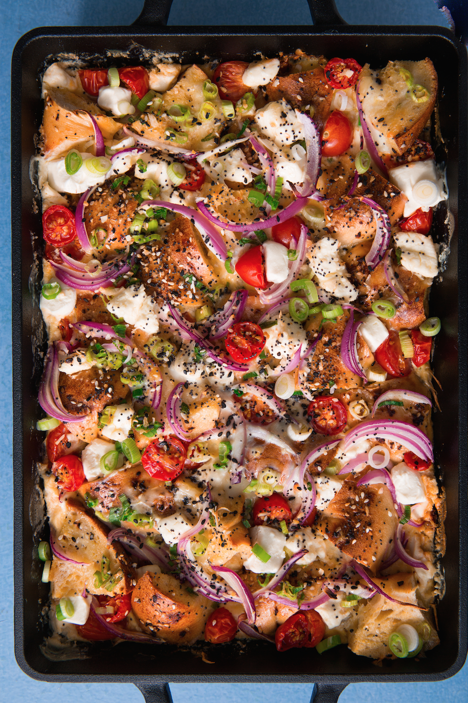 """<p>A fully loaded bagel casserole is what our dreams are made of.</p><p>Get the recipe from <a href=""""https://www.delish.com/cooking/recipe-ideas/recipes/a57263/everything-bagel-casserole-recipe/"""" rel=""""nofollow noopener"""" target=""""_blank"""" data-ylk=""""slk:Delish"""" class=""""link rapid-noclick-resp"""">Delish</a>.</p>"""
