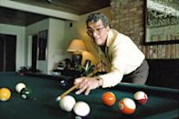 <p>Dean Martin, known as an actor, singer and comedian seen playing pool in his Beverly Hills home in June 1987.</p>