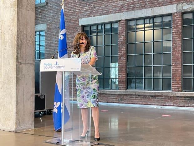 Culture Minister Nathalie Roy made the announcement during a news conference on Sunday. (Olivier Lefebvre/Radio-Canada - image credit)