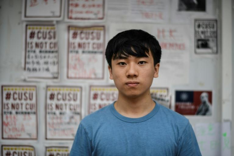Justin Au, president of the student union at the Chinese University of Hong Kong, said universities are supposed to be the last bastions to defend freedom of speech 'but instead they became the first ones to try to control us'
