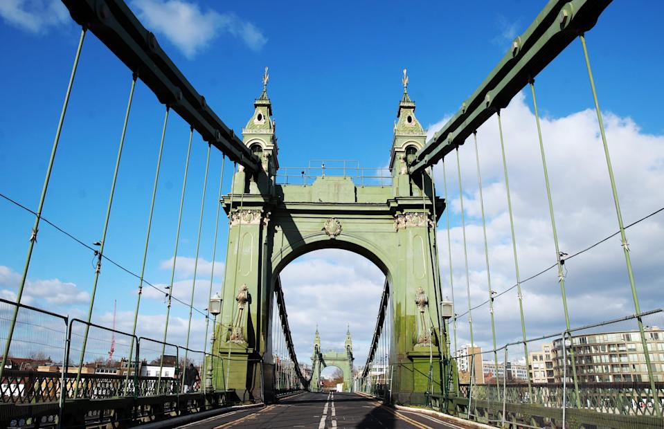 West London's Hammersmith Bridge is to partially re-open on Saturday after passing safety checks (Adam Davy/PA) (PA Archive)