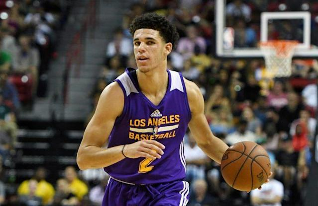 Lonzo Ball had his second triple-double of the summer league Thursday night. (AP)