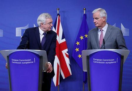 David Davis and Michel Barnier have already butted heads during tense negotiations. REUTERS/Yves Herman