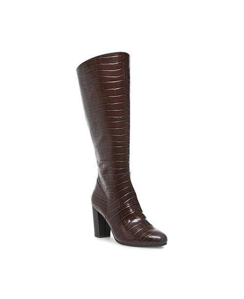 """<p>Faux croc is another big trend right now, and we're loving these chocolate brown <a href=""""https://www.popsugar.com/buy/Anne-Klein-Nastya-Knee-High-Wide-Calf-Boots-505963?p_name=Anne%20Klein%20Nastya%20Knee%20High%20Wide%20Calf%20Boots&retailer=macys.com&pid=505963&price=119&evar1=fab%3Aus&evar9=46799976&evar98=https%3A%2F%2Fwww.popsugar.com%2Ffashion%2Fphoto-gallery%2F46799976%2Fimage%2F46799985%2FAnne-Klein-Nastya-Knee-High-Wide-Calf-Boots&list1=shopping%2Cfall%20fashion%2Cshoes%2Cboots%2Cfall%2Cfall%20shoes%2Cmacys&prop13=mobile&pdata=1"""" rel=""""nofollow"""" data-shoppable-link=""""1"""" target=""""_blank"""" class=""""ga-track"""" data-ga-category=""""Related"""" data-ga-label=""""https://www.macys.com/shop/product/anne-klein-nastya-knee-high-wide-calf-boots?ID=10216610&amp;CategoryID=25122"""" data-ga-action=""""In-Line Links"""">Anne Klein Nastya Knee High Wide Calf Boots</a> ($119, originally $170).</p>"""