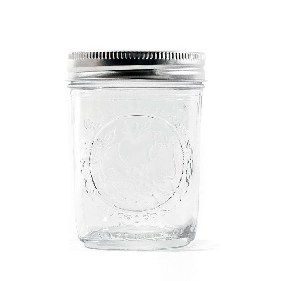 <p>Instead of buying your jars in bulk at Target, you can keep glass jars from purchased sauces, or use a coupon and get a big pack from Michaels. </p>