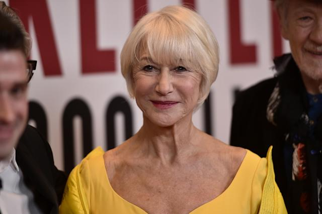British actor Helen Mirren doesn't mind being compared to Keanu Reeves's rumoured girlfriend, Alexandra Grant (Photo by Steven Ferdman/FilmMagic)