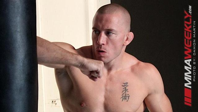 Georges St-Pierre has Returned to the Gym, but He's Heavier than Ever