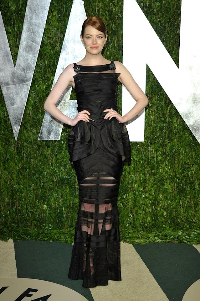 Do you prefer the Giambattista Valli dress Emma Stone wore to the Oscars, or this one, which was designed by Chanel?