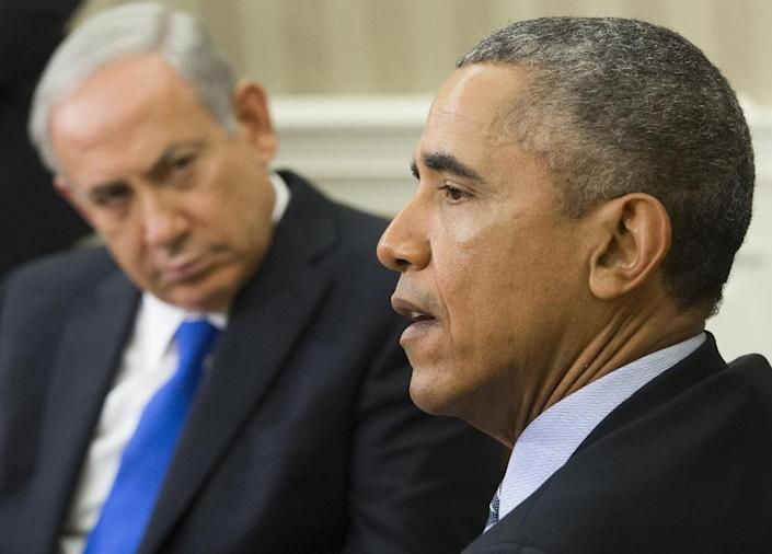 Obama and Netanyahu have had a rocky relationship, worsened by the Israeli leader's strident opposition to the Iran nuclear deal (AFP Photo/Saul Loeb)